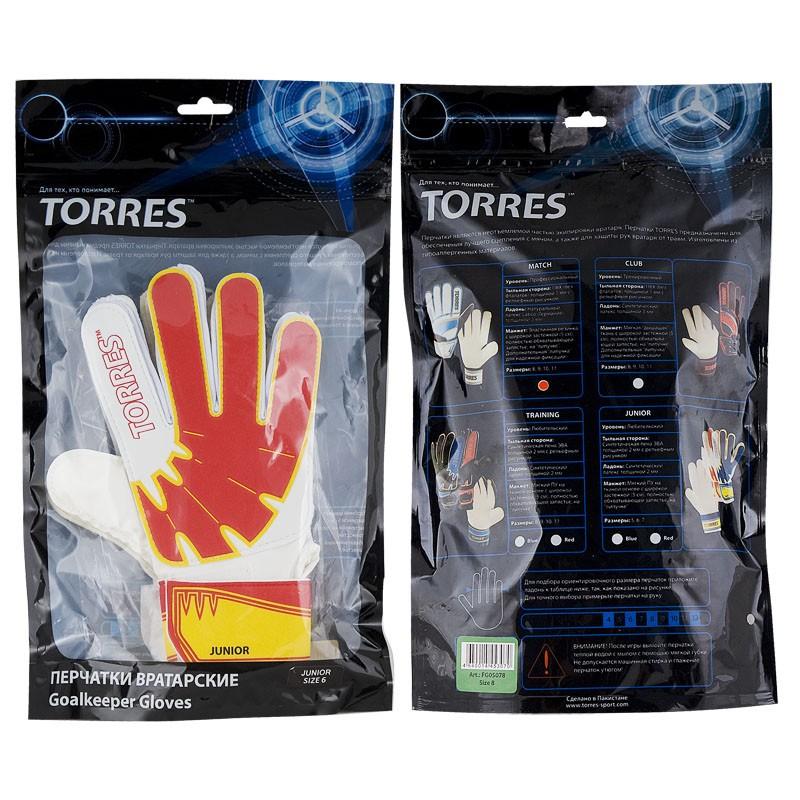 Перчатки вратарские трен. Torres Junior FG05017-RD размер 7