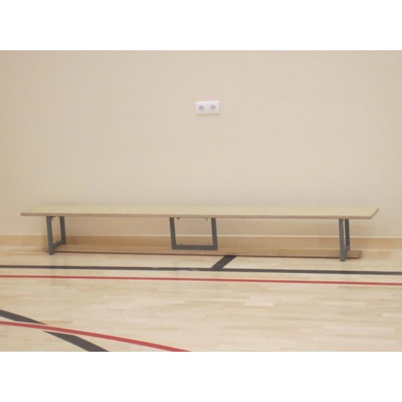 Скамейка гимнастическая Atlet (фанера) на металл. ножках 3,0 м IMP-A41
