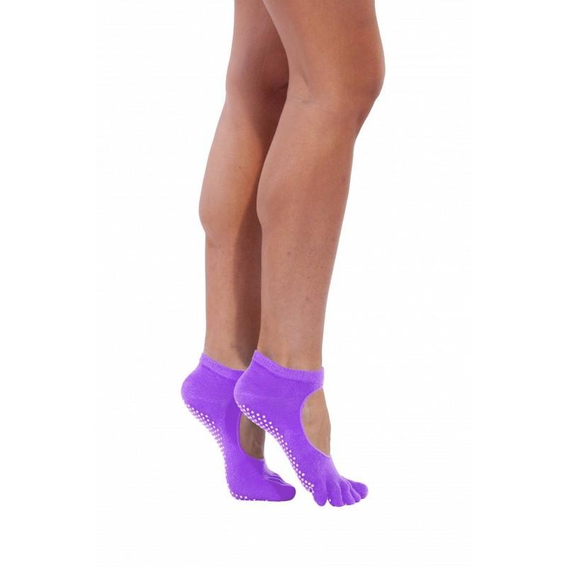 Носки противоскользящие для занятий йогой Bradex SF 0347 фиолетовый