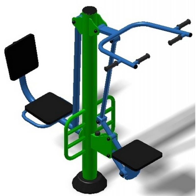 Уличный тренажер взрослый Подтягивание + Жим ногами для двоих Spektr Sport ТС 230