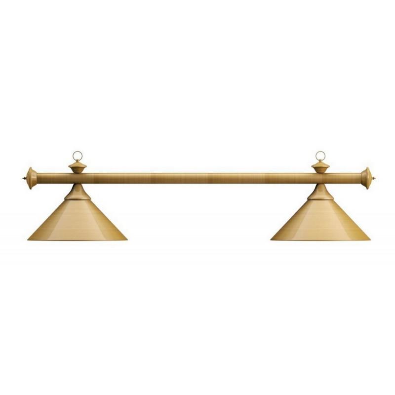 Лампа на два плафона Elegance d35 см 75.020.02.0 матово-бронзовая штанга, матово-бронзовый плафон