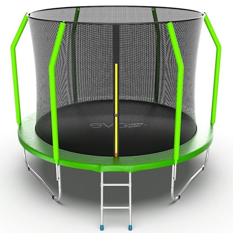 Батут с внутренней сеткой и лестницей EVO Jump Cosmo 10ft зеленый