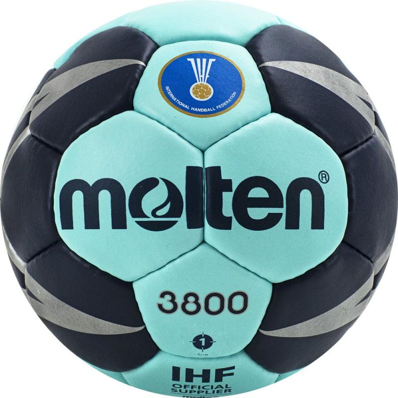 Мяч гандбольный Molten 3800 H1X3800-CN, р.1 бирюзово-т.синий