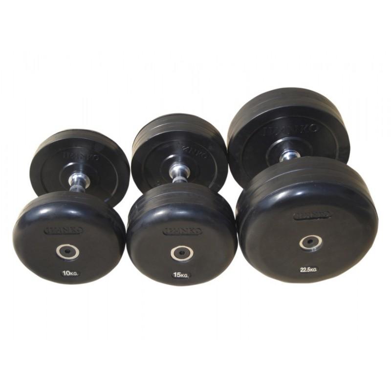 Гантель фиксированная обрезиненная Johns 42,5 кг 75074-42,5 чёрный