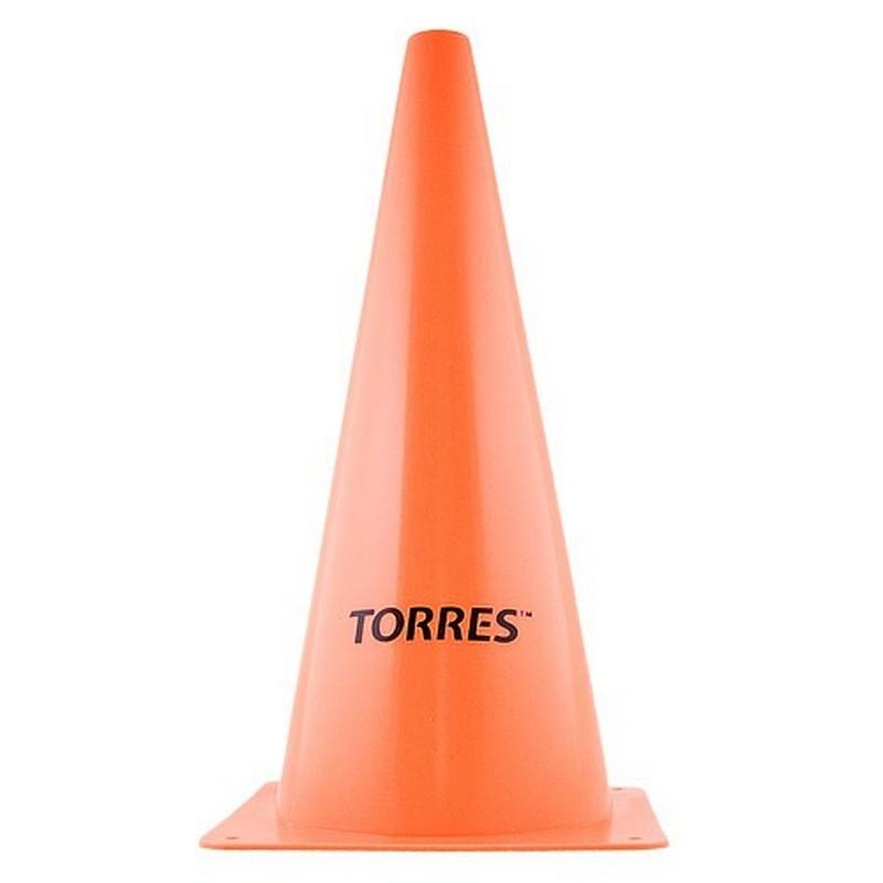 Конус тренировочный Torres TR1004, пластик, высота 38 см., оранжевый