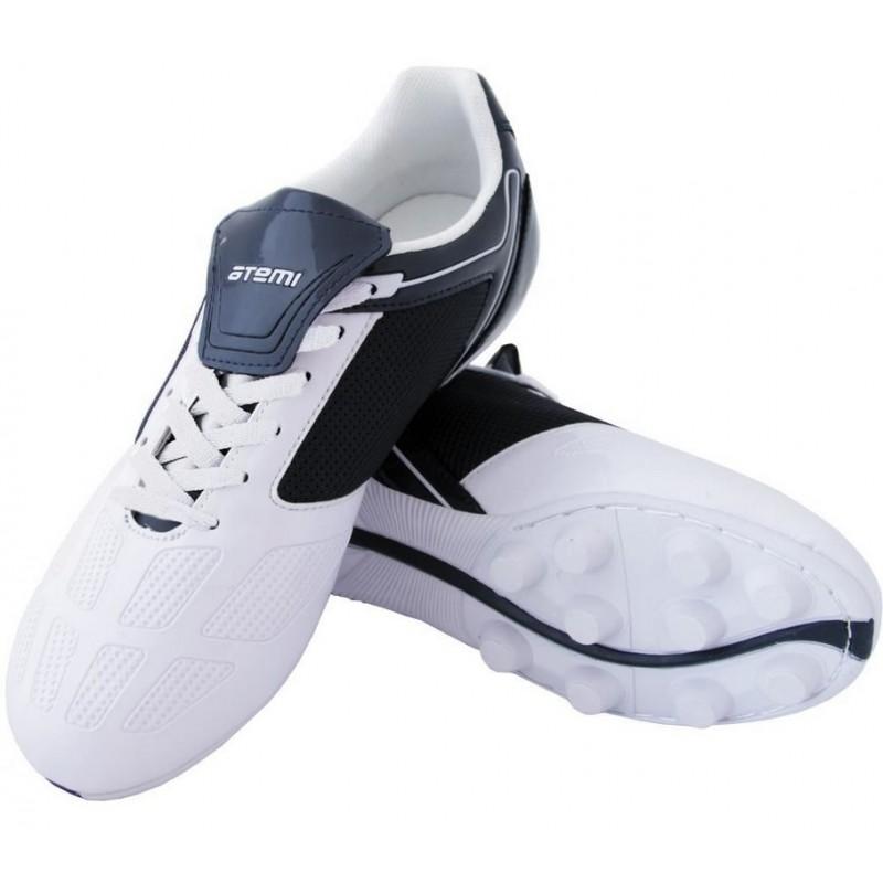 Бутсы футбольные Atemi SD803 MSR синтетическая кожа бел/син
