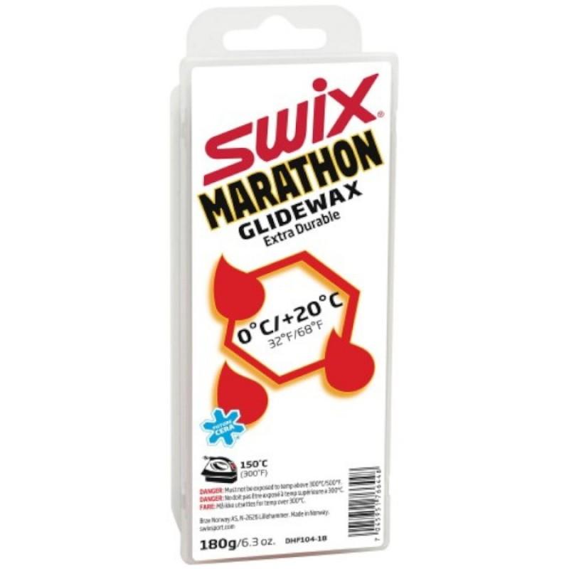 Парафин высокофтористый Swix White Marathon (0°С +20°С) 180 г.