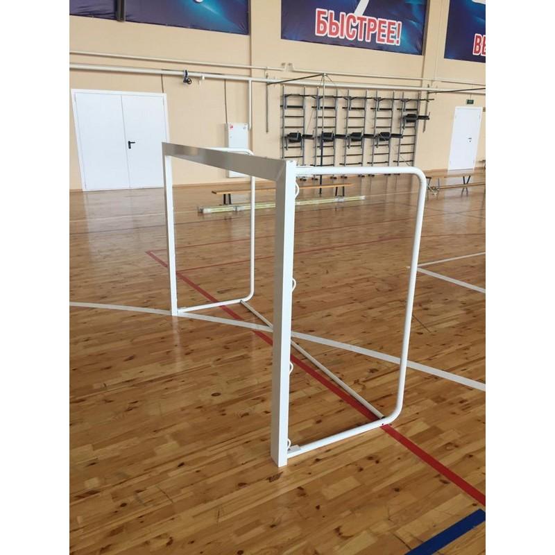 Ворота футбольные алюминиевые 80x40мм 180x120см (сетка и крепление) шт