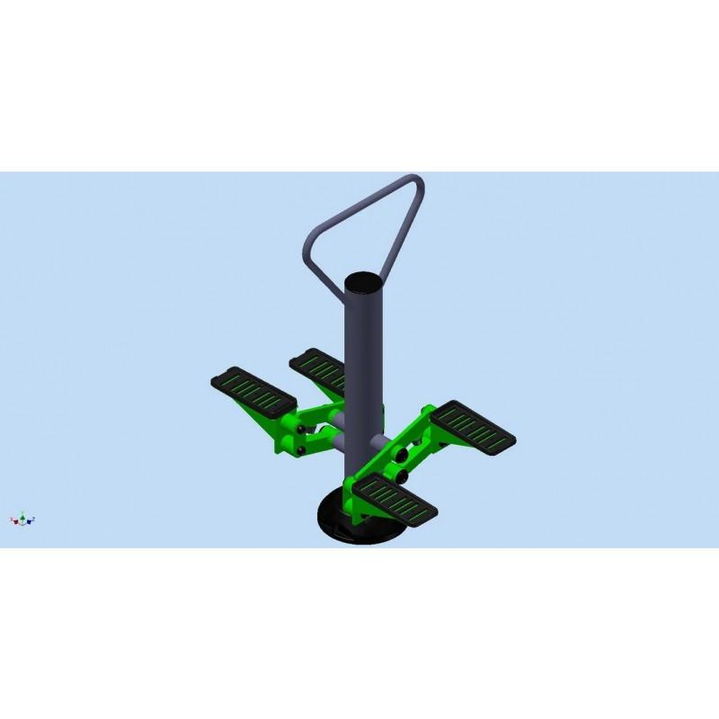 Уличный тренажер взрослый Степ для двоих Spektr Sport ТС 244