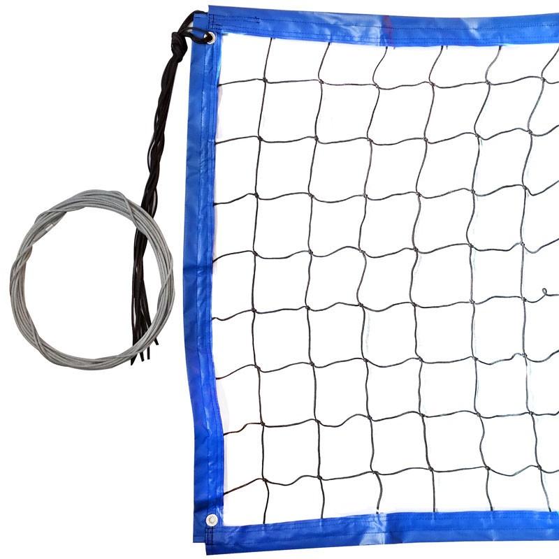 Сетка для пляжного волейбола любительская 8.5х1м, яч.10см, нить 3мм ПП FS-PV-№20 черная