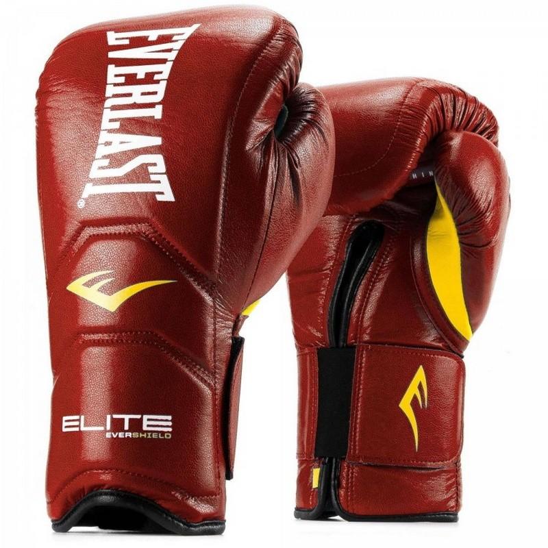 Перчатки тренировочные Everlast Elite Pro 14 oz красный P00000680 14 RD