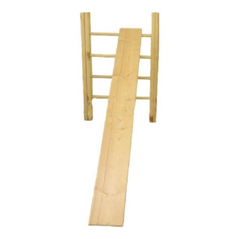 Доска наклонная гладкая к стенке гимнастической с крючками, длина 2,5 м Ellada М808