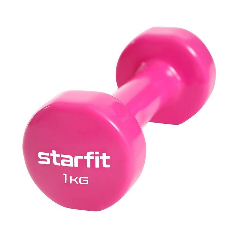 Гантель виниловая Core 1 кг Star Fit DB-101 розовый