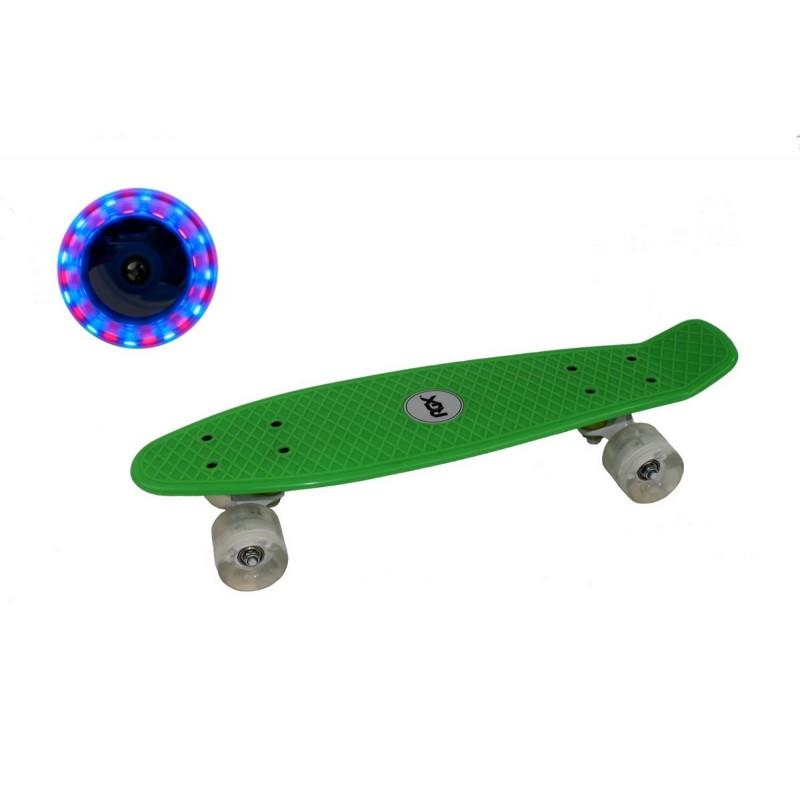Мини-круизер RGX PNB-01GW светящиеся колеса, Green