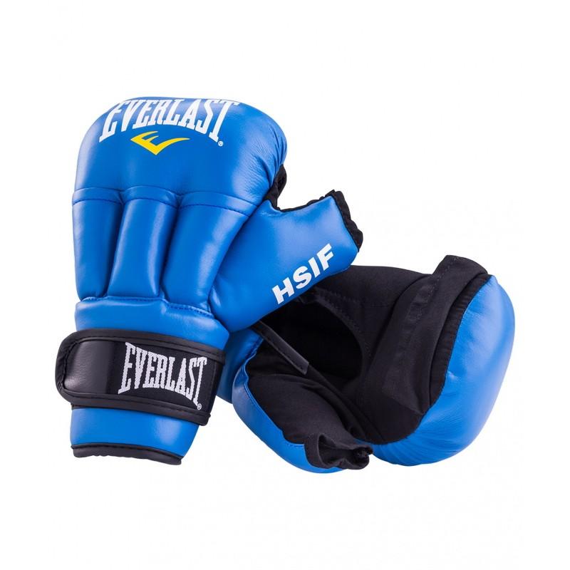 Перчатки для рукопашного боя Everlast HSIF Leather, синие 12 oz RF5212