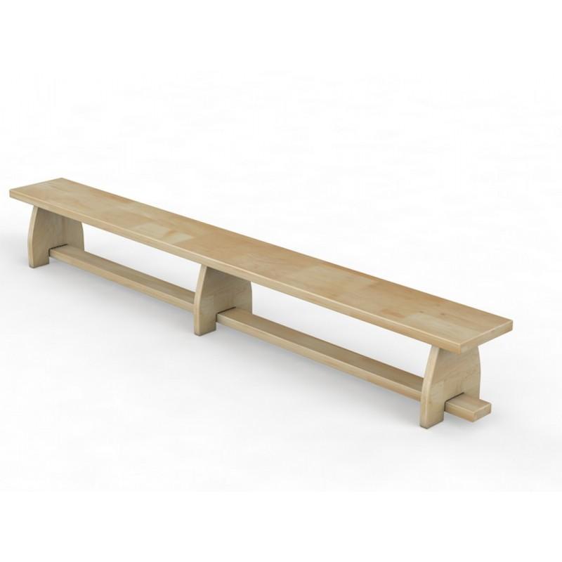 Скамейка гимнастическая с деревянными ножками Glav 04.302.1-3000 Длина 300см