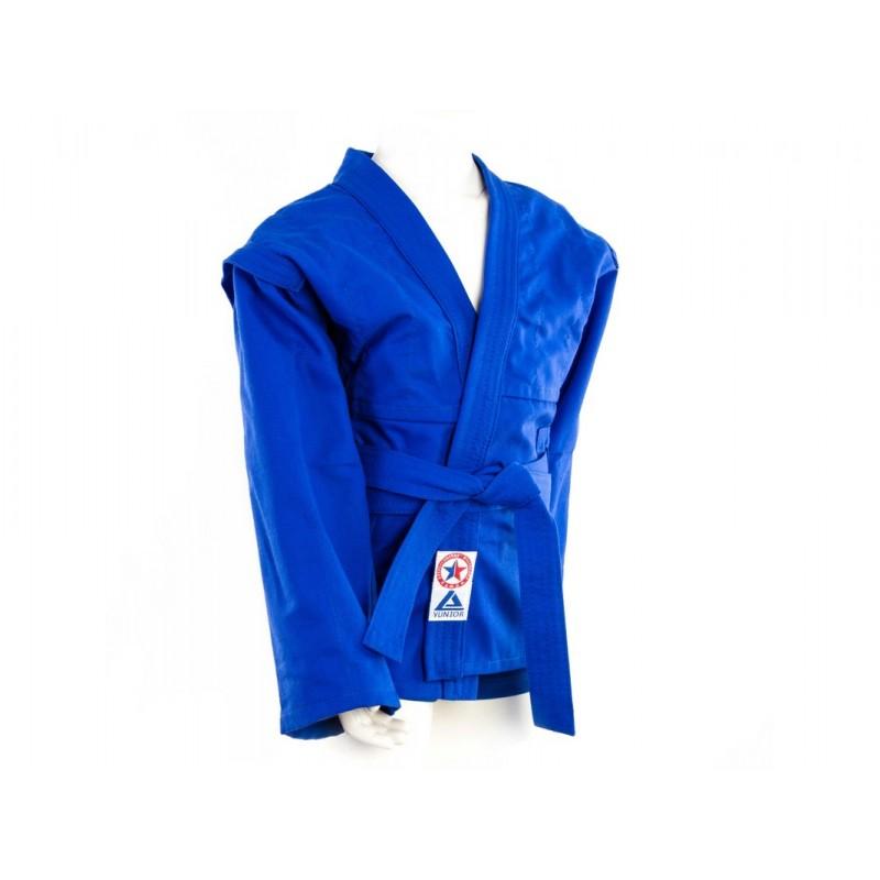Комплект для Самбо (куртка, шорты) легкий, лицензионный, синий