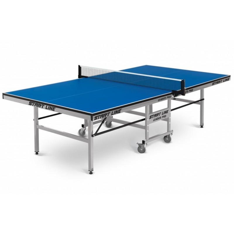Теннисный стол Start Line Leader Pro (ЛМДФ 25 мм, без сетки, обрезинен.ролики) 60-722