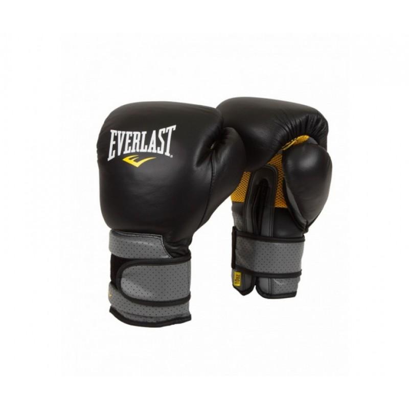Перчатки тренировочные Everlast Pro Leather Strap 10 oz черный 691001