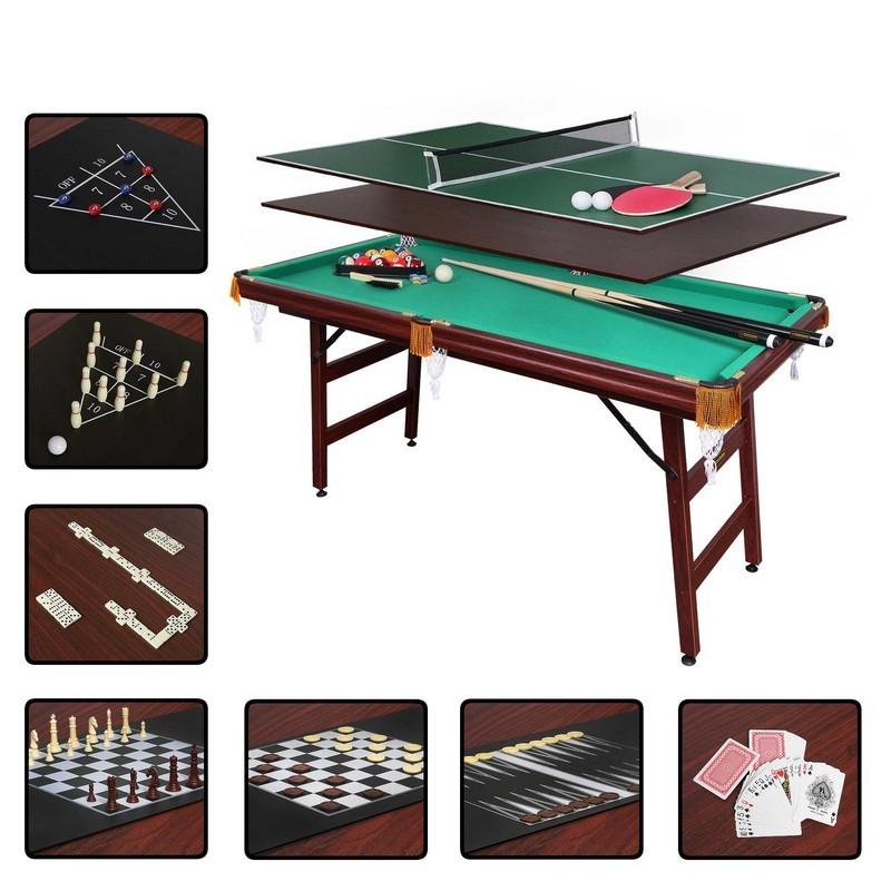 Бильярдный стол Fortuna Пул 5фт 9в1 с комплектом аксессуаров 07740