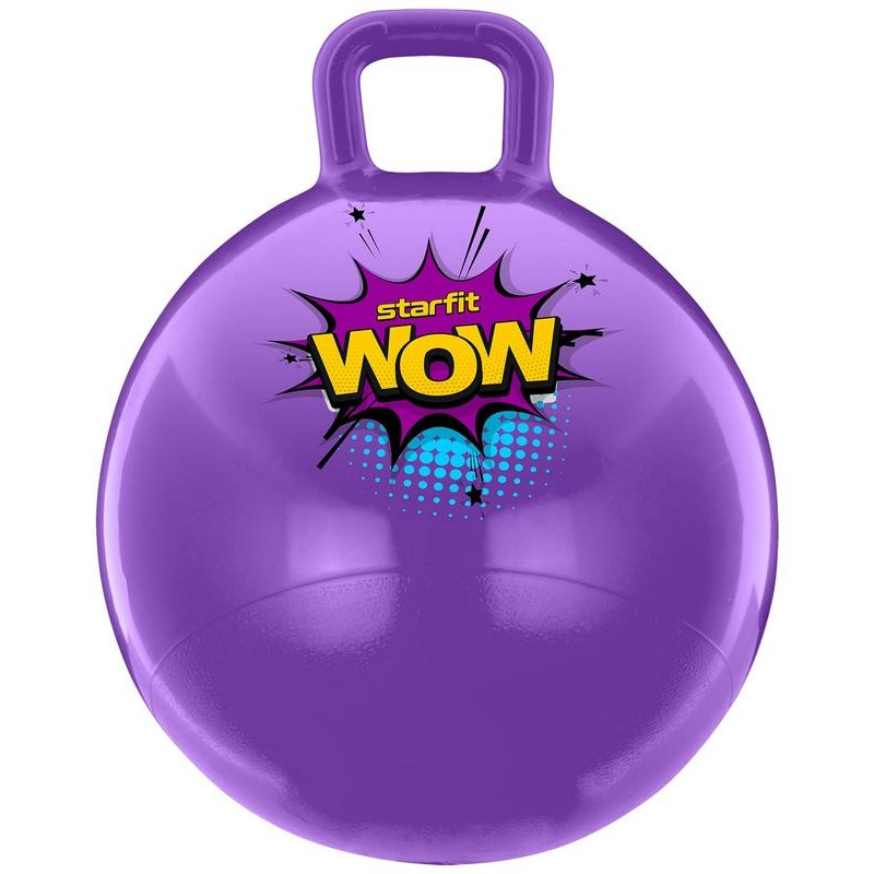 Мяч-попрыгун Starfit GB-0401, Wow, 55 см, 650 гр, с ручкой, фиолетовый, антивзрыв
