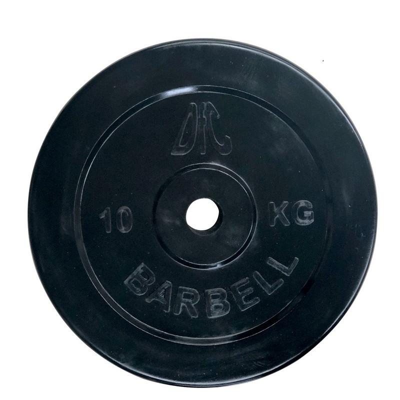 Диск обрезиненный d26мм DFC WP021-26-10 10кг, чёрный