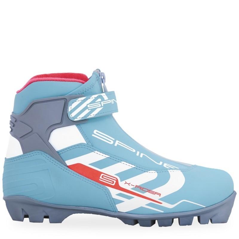 Лыжные ботинки NNN Spine X-Rider 254/2 бирюзовый/белый