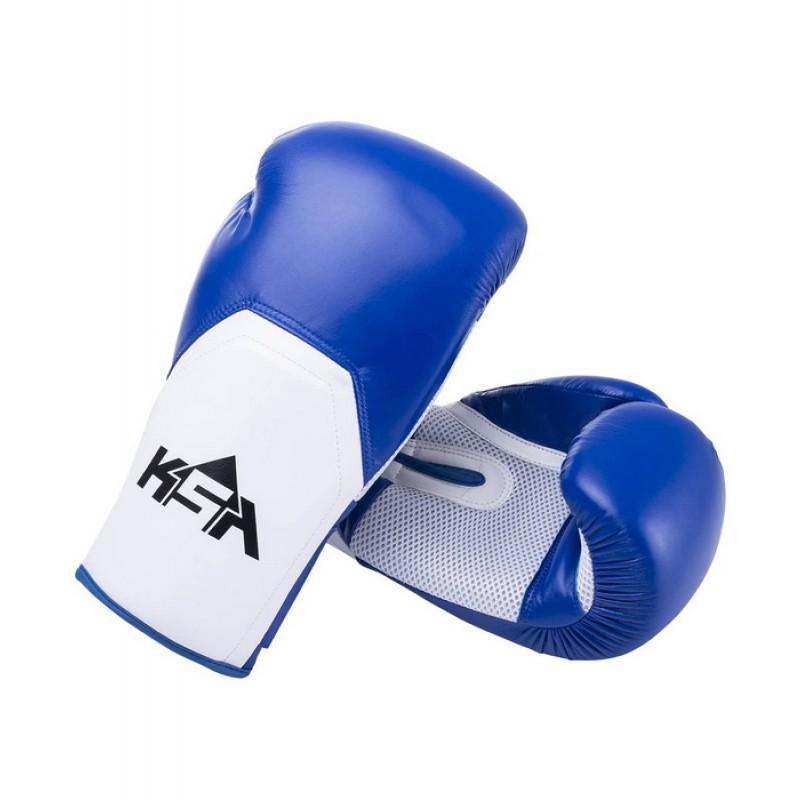 Перчатки боксерские KSA Scorpio Blue, к/з, 6 oz