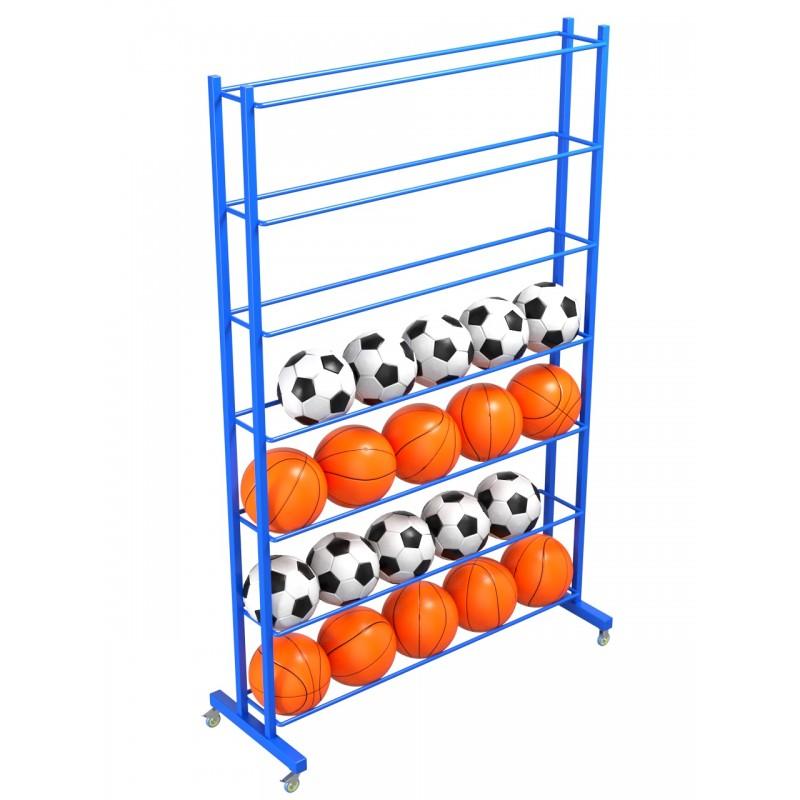 Стеллаж для мячей односторонний Glav 9.305.0 200х125х35 на 28шт.