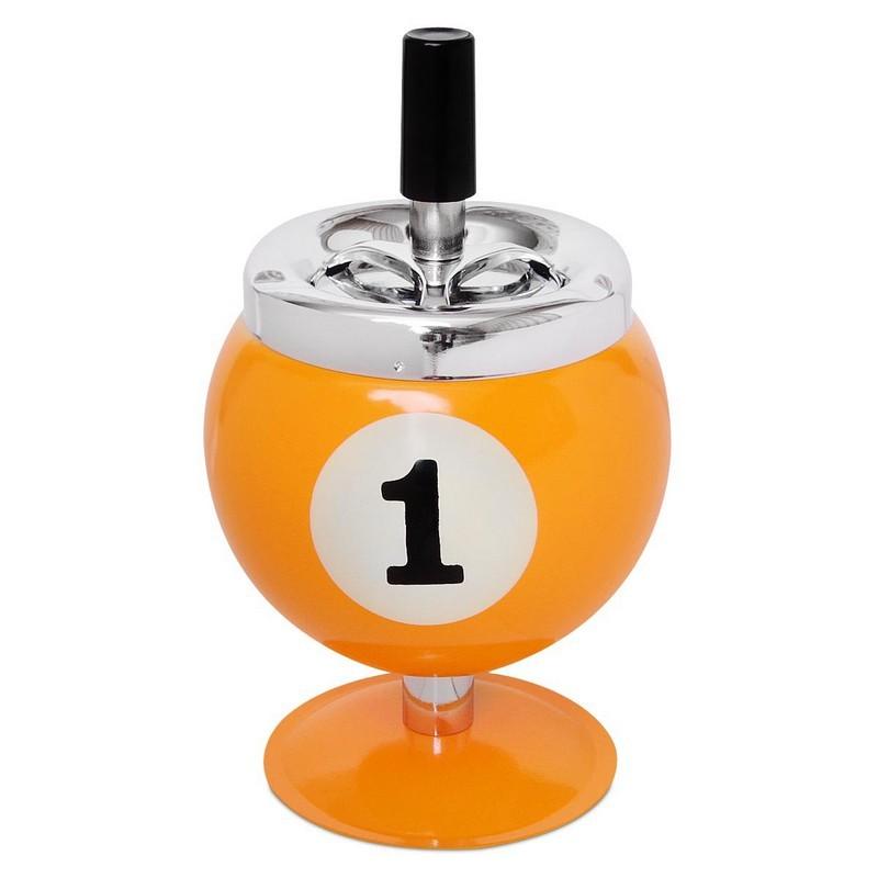 Пепельница Бильярдный шар №1 на подставке d10 см, h14 см 04073
