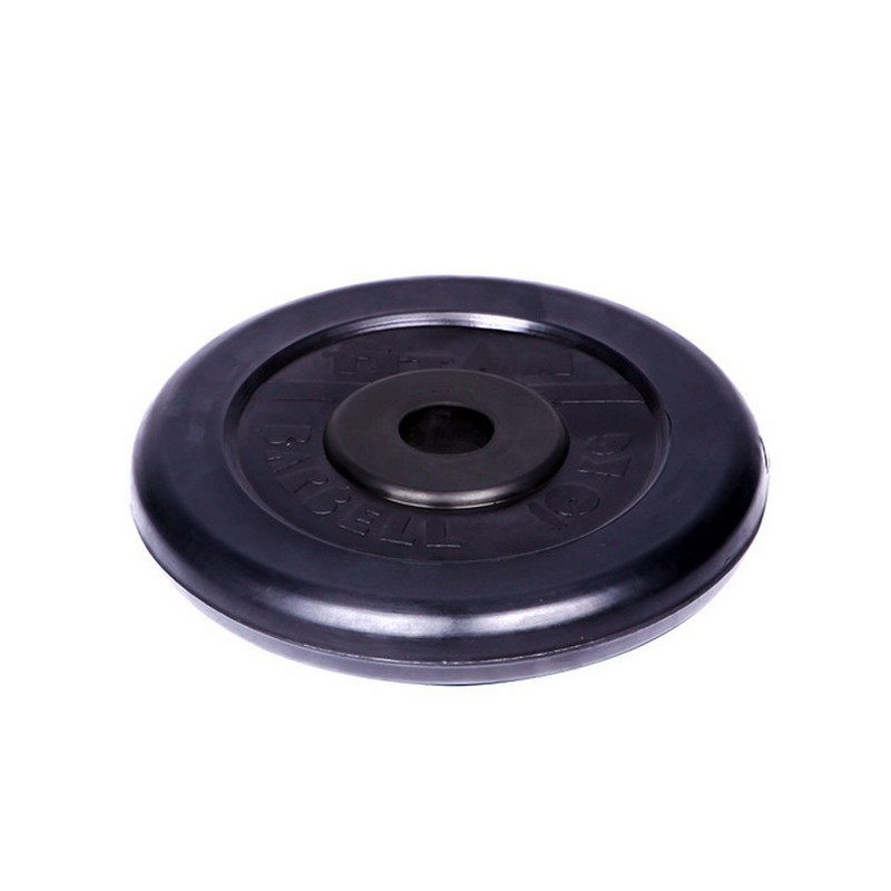 Диск обрезиненный d26мм MBBarbell Titan 10кг черный