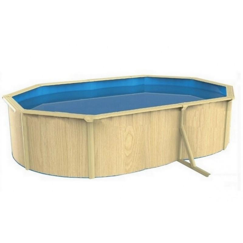 Морозоустойчивый бассейн овальный 910x460x130см Poolmagic Wood Basic