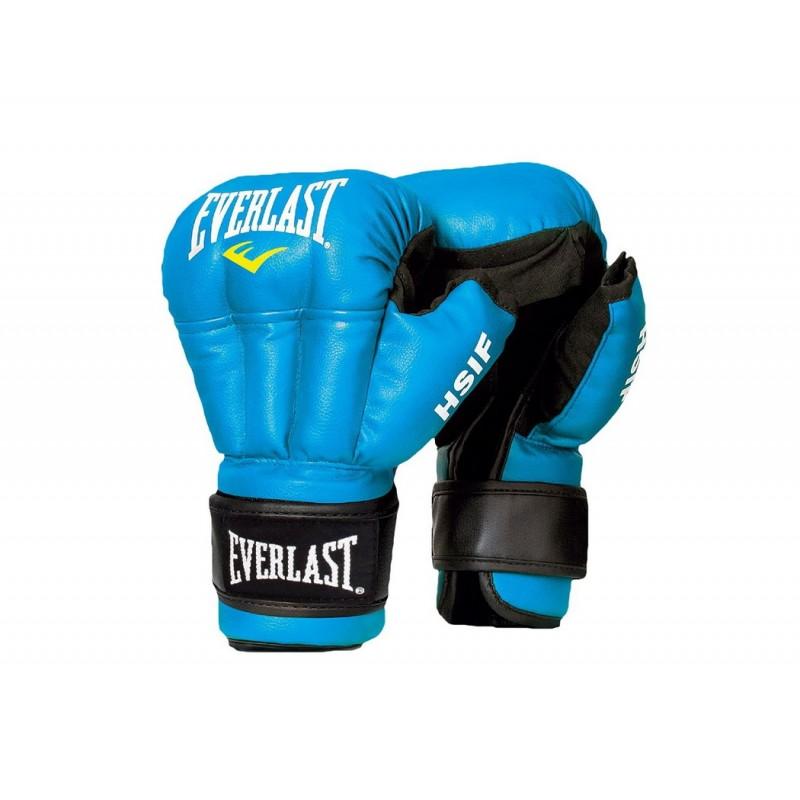 Перчатки для рукопашного боя Everlast HSIF Leather, синие L, 12 oz RF5212L