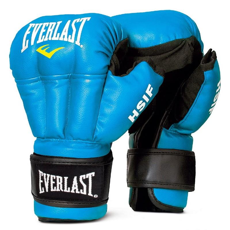 Перчатки для рукопашного боя Everlast HSIF Leather, синие 8 oz RF5208