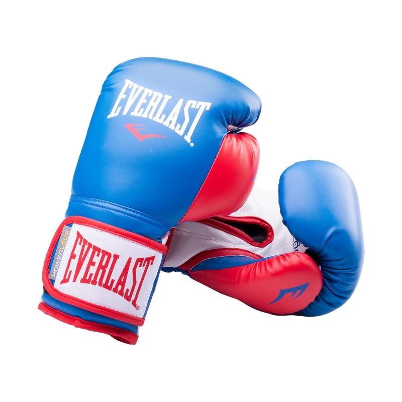 Перчатки боксерские Everlast Powerlock P00000728, 16oz, синий/красный