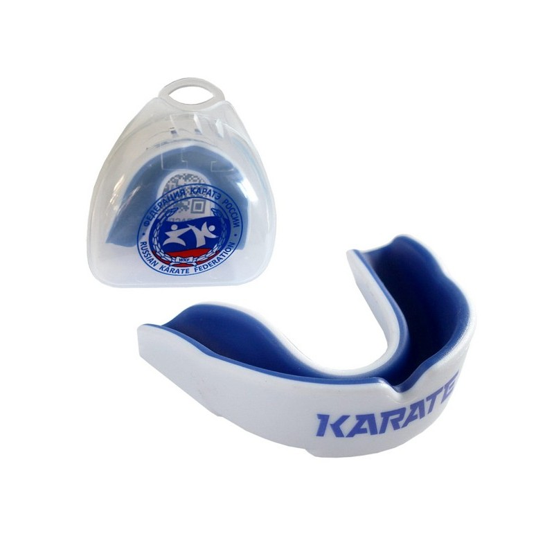 Капа Karate MGX-003 KR, с футляром, белый\синий