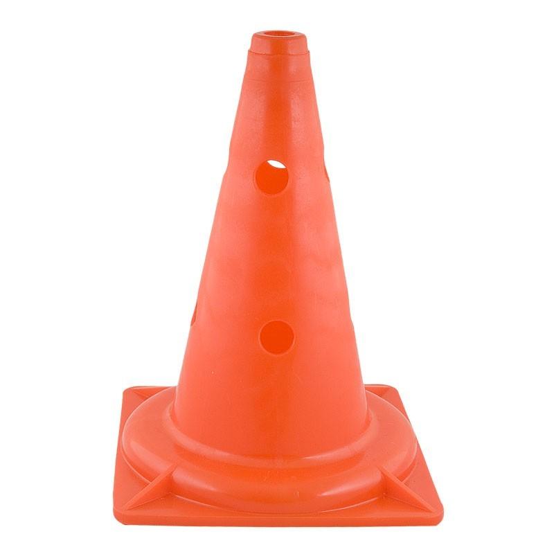 Конус тренировочный (КТ) высота 32 см, мягкий пластик, с отверстиями для штанги, оранжевый