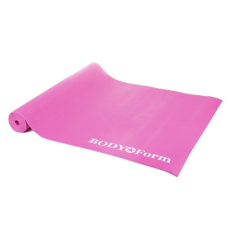 Коврик гимнастический Body Form BF-YM01C в чехле 173x61x0,4 см розовый