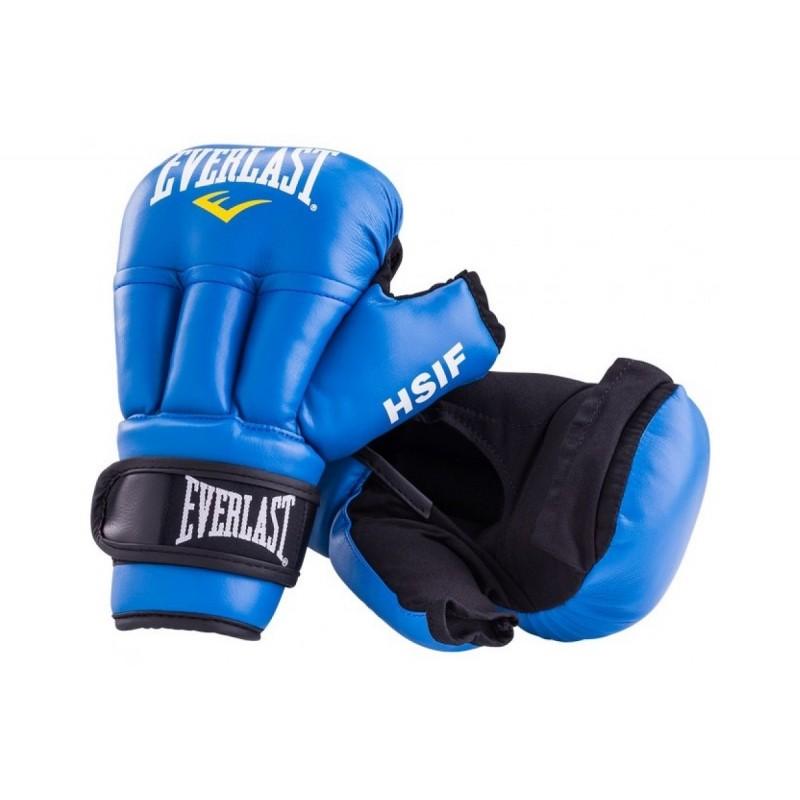 Перчатки для рукопашного боя Everlast HSIF Leather, синие 10 oz RF5210