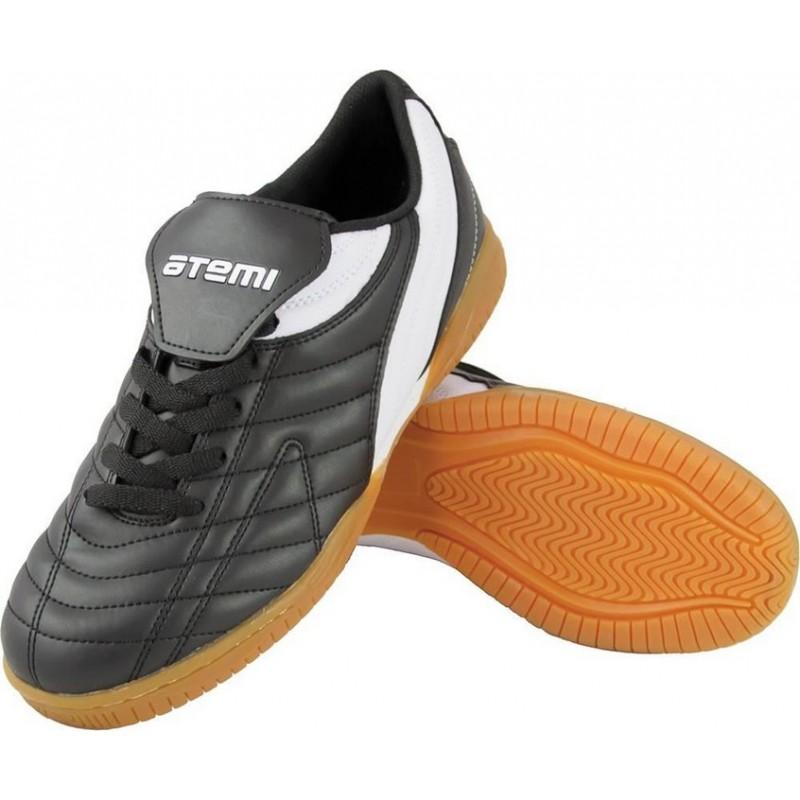 Бутсы футбольные для зала Atemi 6046 Indoor синтетическая кожа черн/бел (30-46)