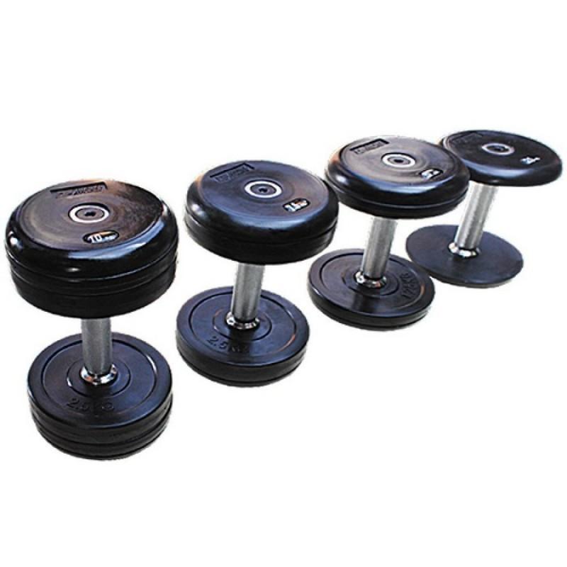 Профессиональный гантельный ряд Grome Fitness 52,5-60 кг (4 пары с шагом 2,5 кг) DB068