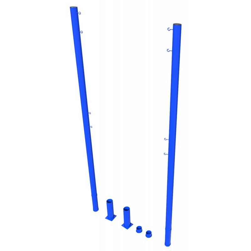 Стойки волейбольные для улицы без механизма натяжения, в стаканах с крышками (тр.76мм) ФСИ 8886