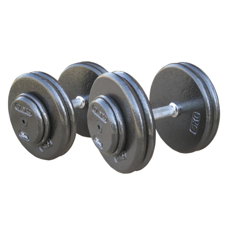Комплект гантелей металлических Johns 75070/12,5-20
