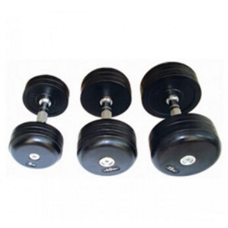 Обрезиненный гантельный ряд Alex 52,5-60 кг DB-181-1