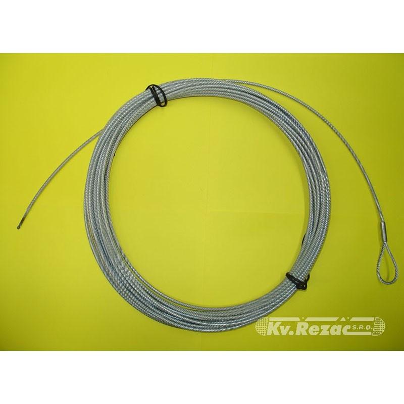 Трос стальной для волейбольной сетки Kv.REZAC в ПВХ оболочке, d3,5 мм, l12,5 м 15085020