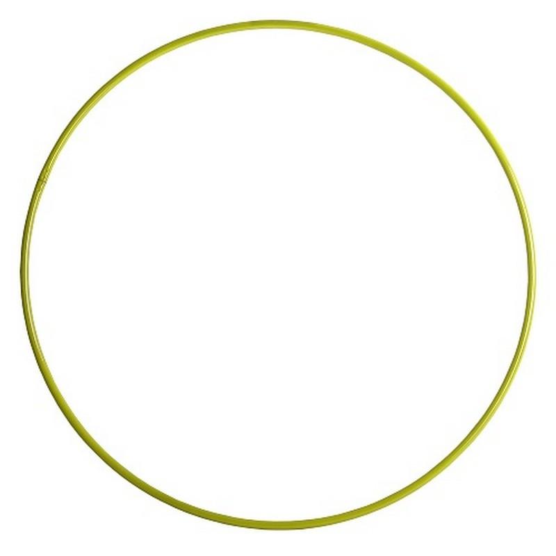 Обруч алюминиевый d75см желтый