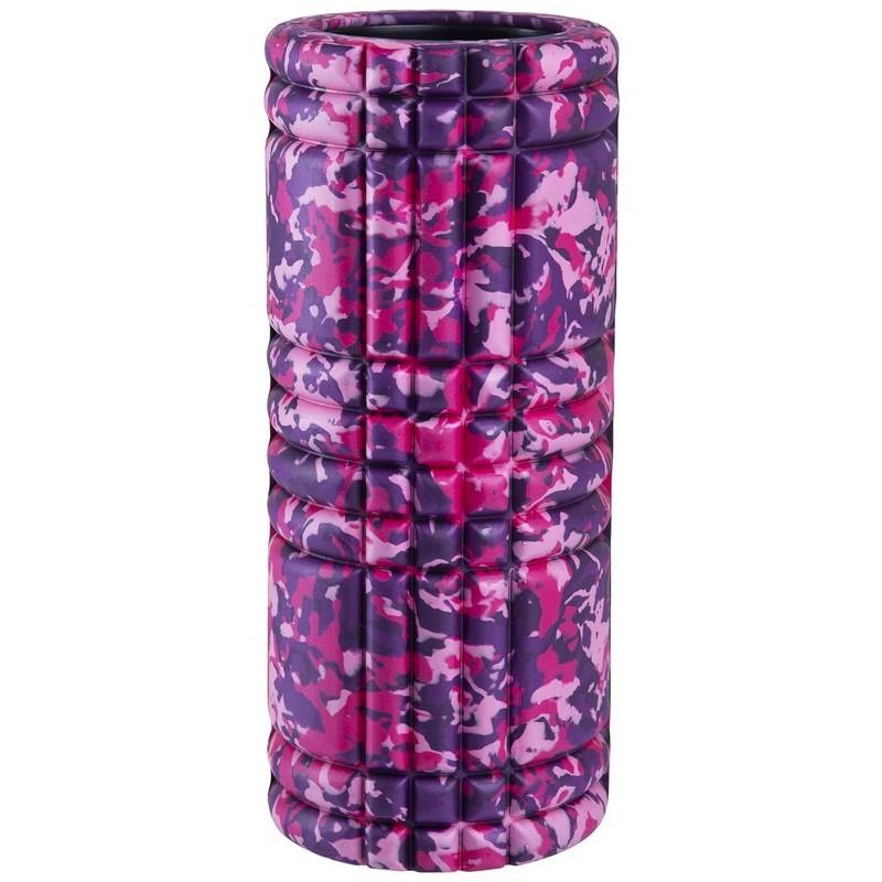 Ролик массажный Starfit FA-508, 33x14cм, розовый камуфляж/черный