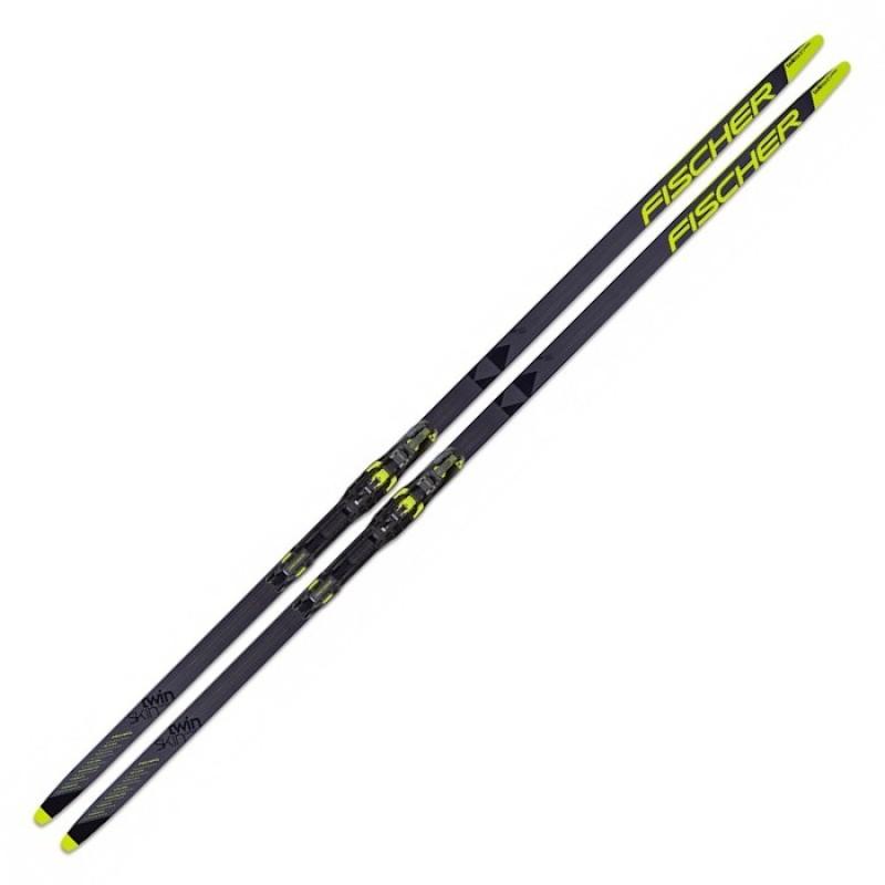 Лыжи беговые Fischer Twin Skin Carbоn Pro Stiff IFP Step (черно/желтый) N13620