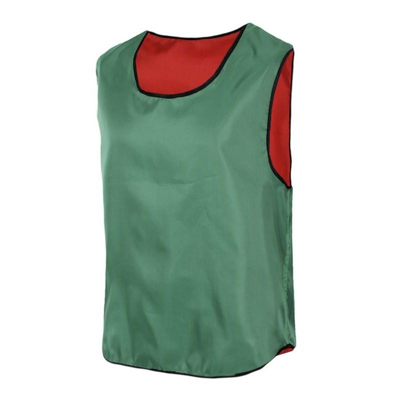 Манишка двухсторонняя  зеленый-красный