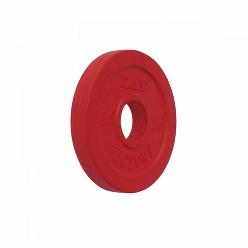 Диск тяжелоатлетический тренировочный d51 мм DHS Victory 2,5 кг, красный